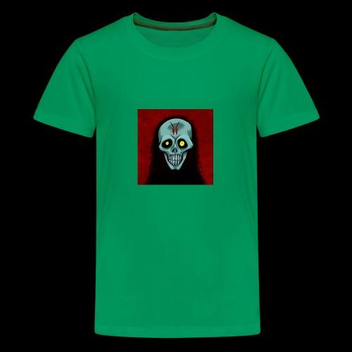 Ghost skull - Teenage Premium T-Shirt