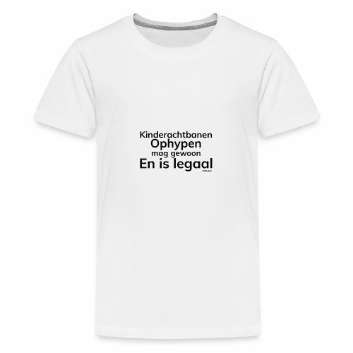 Kinderachtbanen ophypen - Teenager Premium T-shirt