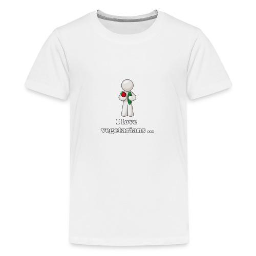 lovevegetariansfront - Teenager Premium T-shirt