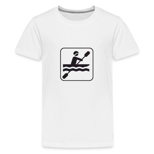 Icono piraguista - Camiseta premium adolescente