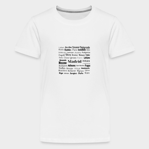 European capitals - Teenage Premium T-Shirt