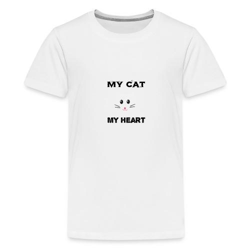 my cat my heart - T-shirt Premium Ado