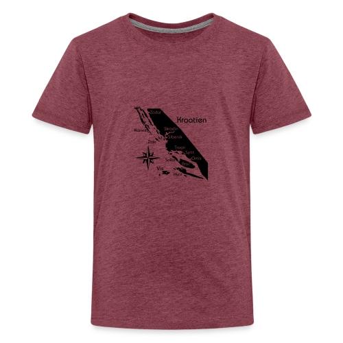 Kroatien Zadar bis Hvar - Teenager Premium T-Shirt
