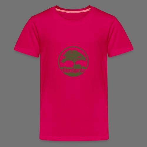 hiljainen puutarha (vihreä oldstyle) - Teinien premium t-paita