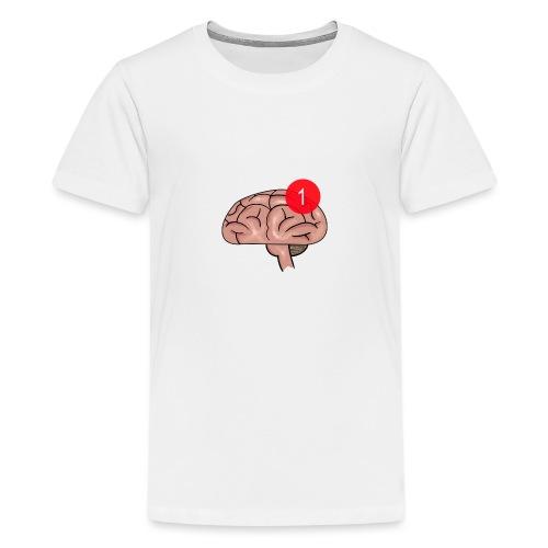 Notification on the brain - Premium T-skjorte for tenåringer