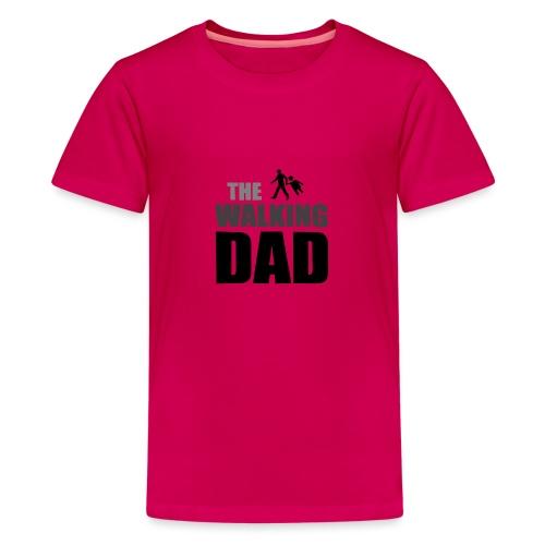 the walking dad auf dem Weg in die lustige Bar - Teenager Premium T-Shirt