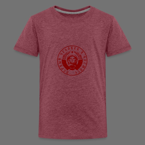 Cosmonaut 1c red - Teenage Premium T-Shirt