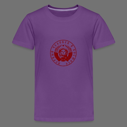 Cosmonaut 1c red (oldstyle) - Teenage Premium T-Shirt