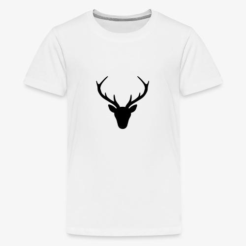 Hirsch Geweih Silhouette Jagd Jäger JGA Geschenk - Teenager Premium T-Shirt