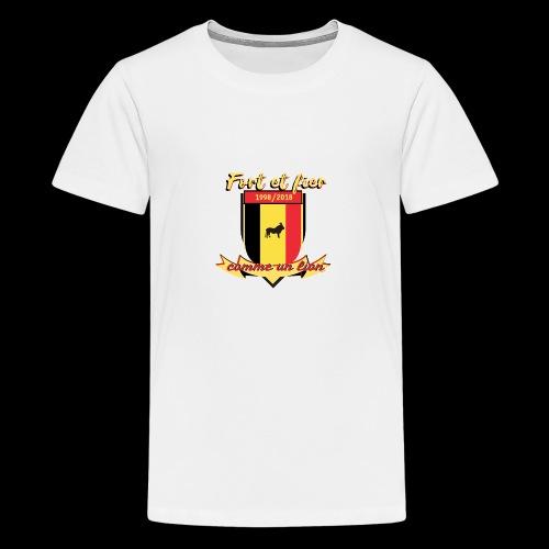 belgique foot coupe du monde - T-shirt Premium Ado