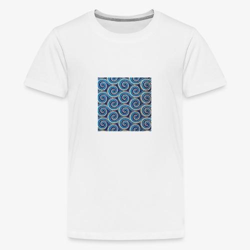 Spirales au motif bleu - T-shirt Premium Ado