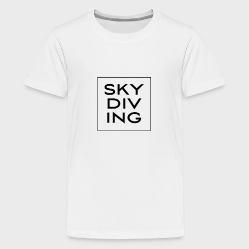 SKY DIV ING Black - Teenager Premium T-Shirt