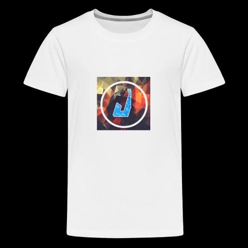 jakubplayss logo merch - Premium T-skjorte for tenåringer