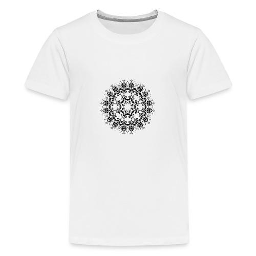 Floral Silhouette - Teenager Premium T-shirt
