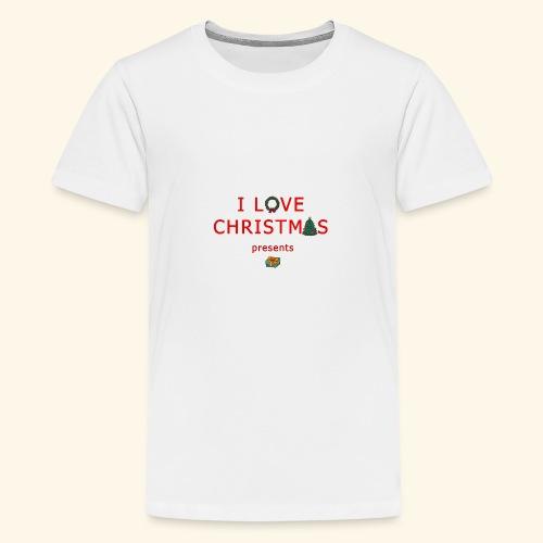 I love christmas presents - Teenage Premium T-Shirt
