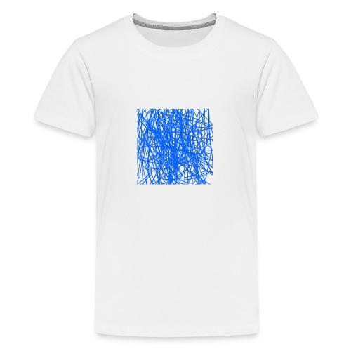 Blue lines - Premium-T-shirt tonåring
