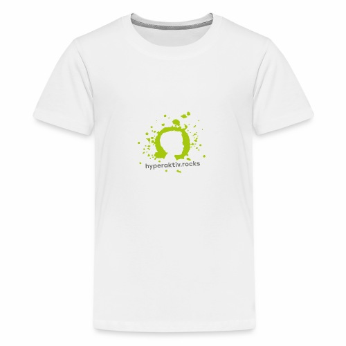 hyperaktiv.rocks Logo - Teenager Premium T-Shirt
