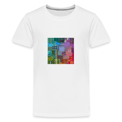 Knitting a rainbow - Premium-T-shirt tonåring