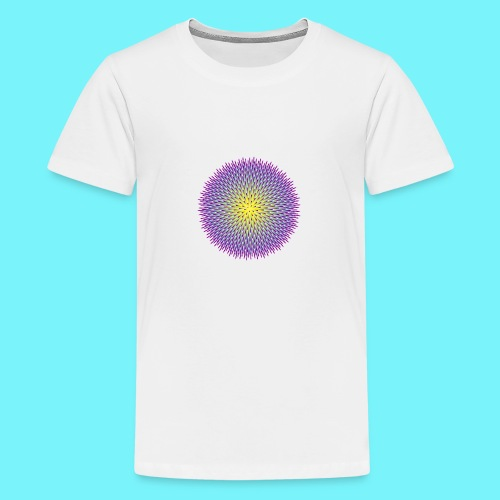 Fibonacci based image with radiating elements - Teenage Premium T-Shirt