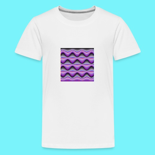 Sine waves in red and blue - Teenage Premium T-Shirt