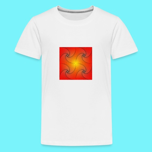 Pursuit curve in red and yellow - Teenage Premium T-Shirt