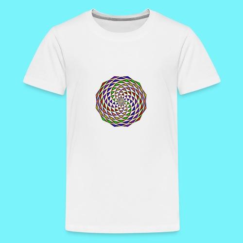 Mandala in rainbow colours - Teenage Premium T-Shirt