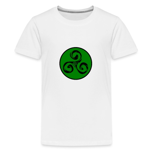 Triskel and Spiral - Camiseta premium adolescente