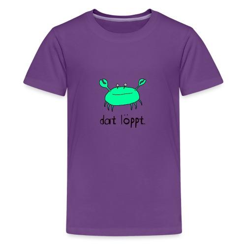 Ostfriesland FUN Shirt - Dat Löppt Strandkrabbe - Teenager Premium T-Shirt