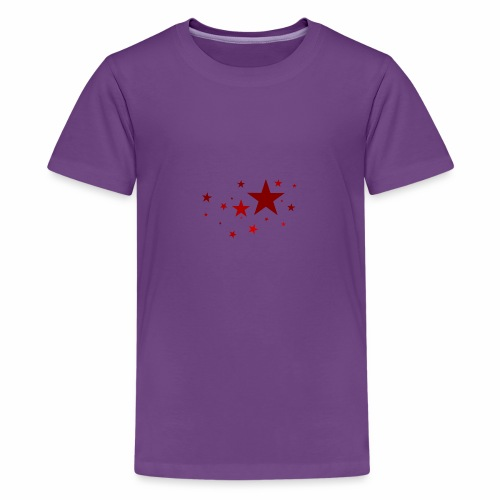 Sterne in Rot - Teenager Premium T-Shirt