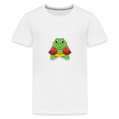 Niedliche Schildkröte - Teenager Premium T-Shirt