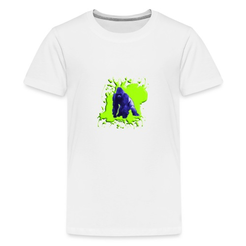 Blue Green Gorilla - Teenager Premium T-Shirt