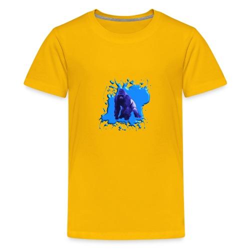 Blauer Gorilla - Teenager Premium T-Shirt