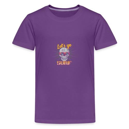 Surf till Death - Teenager Premium T-Shirt