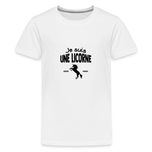 Je suis une licorne - T-shirt Premium Ado