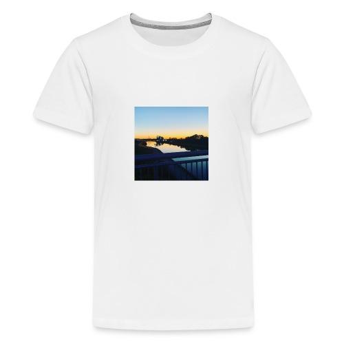 Sonnenuntergang Wasserspiegelung - Teenager Premium T-Shirt