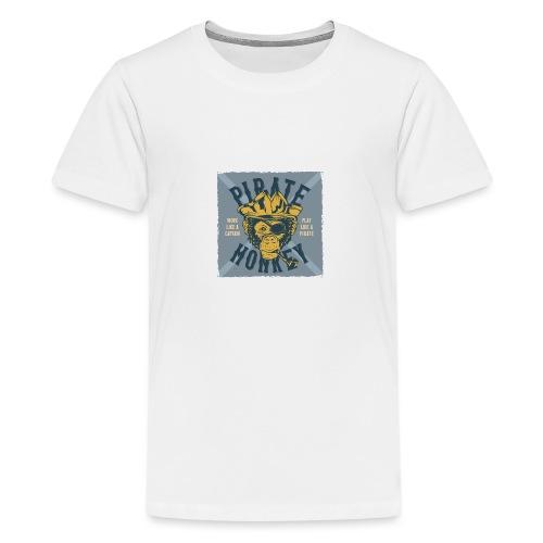 Pirate Monkey - Teenager Premium T-Shirt