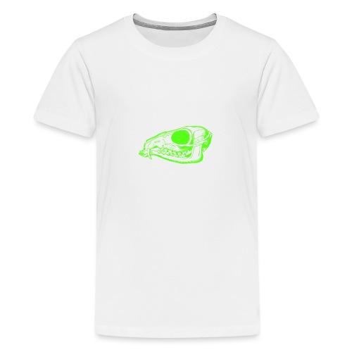 Grüner Säbezahnhirsch Schädel - Teenager Premium T-Shirt