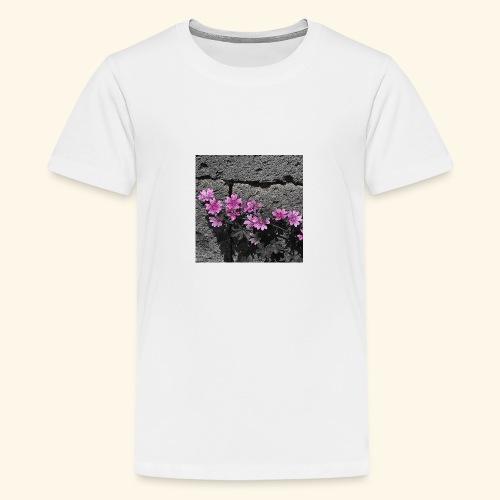 Fiori viola disegnati - Maglietta Premium per ragazzi