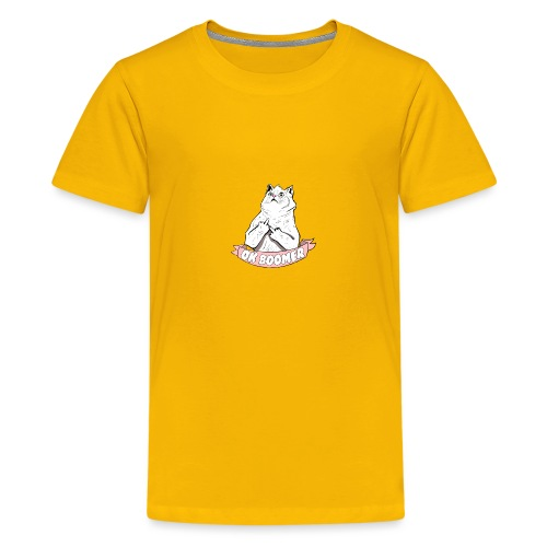 OK Boomer Cat Meme - Teenage Premium T-Shirt
