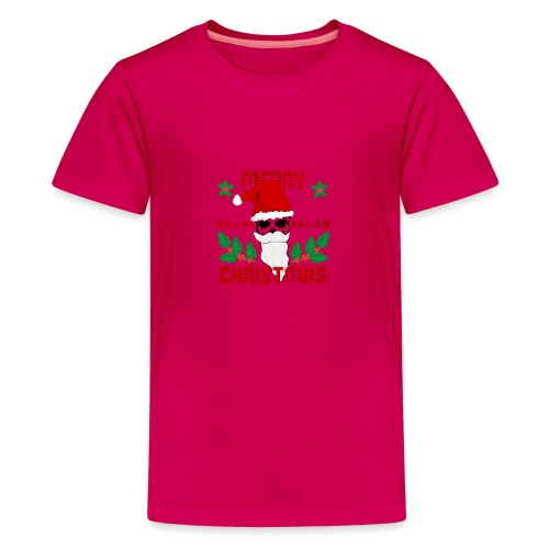 Merry Christmas Skull - Teenager Premium T-Shirt