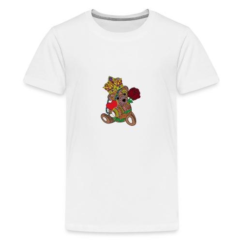 Miś na walentynki - Koszulka młodzieżowa Premium