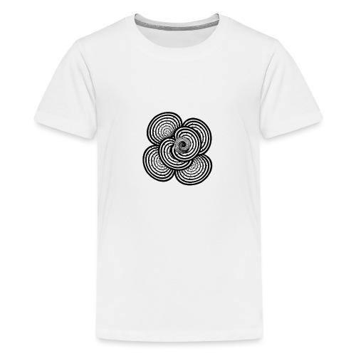 white and black - abstrakt, neutral, handgemalt - Teenager Premium T-Shirt