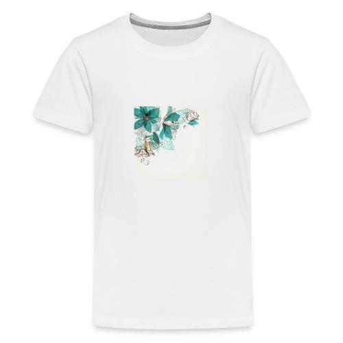 Tropical Flora - Teenage Premium T-Shirt