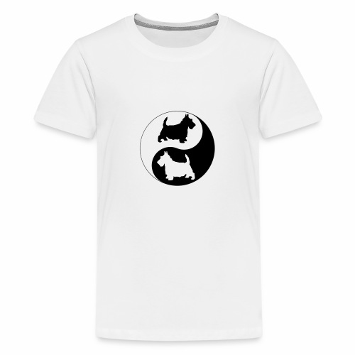 yin yang scotties the perfect balance - Teenage Premium T-Shirt