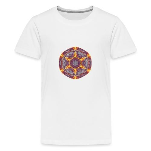 Star Poinsettia Mandala Lucky Star 9401I - Teenage Premium T-Shirt