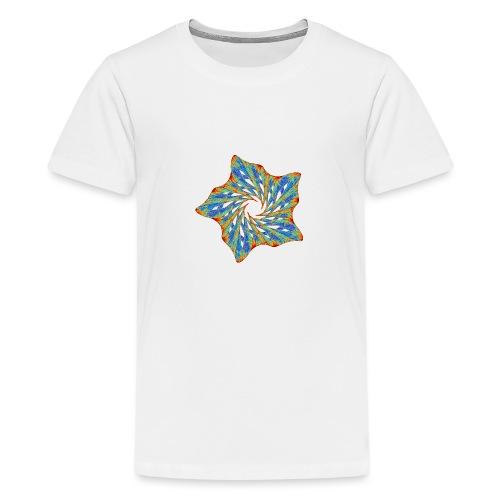 Bunter Seestern mit Dornen 9816j - Teenager Premium T-Shirt