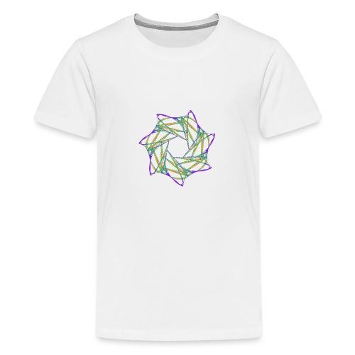 Chakra Mandala Mantra OM Chaos Star 12088grbw - Teenage Premium T-Shirt