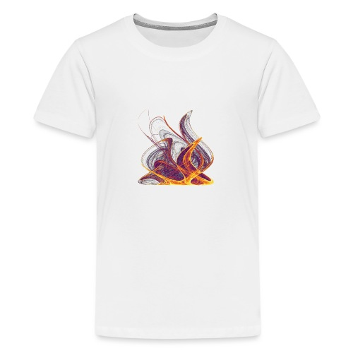 Kaminfeuer Lagerfeuer Flammengezüngel Feuer 12435i - Teenager Premium T-Shirt