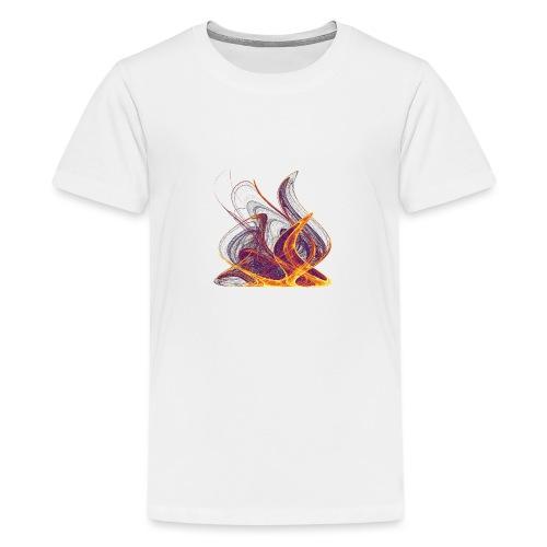 Log fire Campfire Flame flame fire 12435i - Teenage Premium T-Shirt