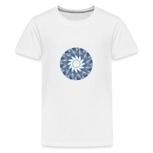 Chakra Mandala Mantra OM Chaos Star Circle 12235ic - Teenage Premium T-Shirt